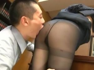 Uncovering Yui Hinata's enormous tits and boning her clam