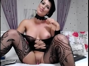 milf brunette in stockings masturbate and smoke   - Watch Part2 on...