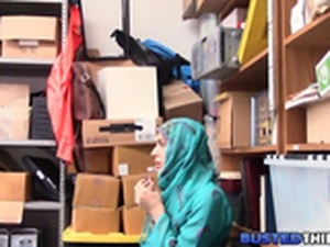 Hijab Teen Fucked for Shoplifting