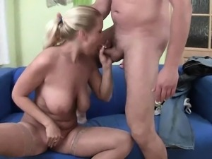 Big boobs chick Stella Cox anal try out while being filmed