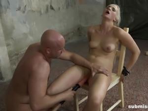 Slave Katy nice ass spanked lovely in BDSM porn