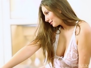 Romantic fucking session with stunning brunette Connie Carter