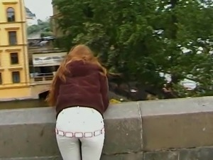 Long haired pornstar enjoys her exciting day out in a new city
