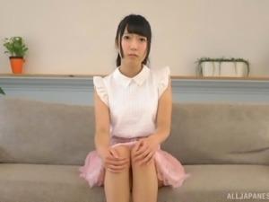 Masturbation session for stunning Japanese woman Nanase Miku