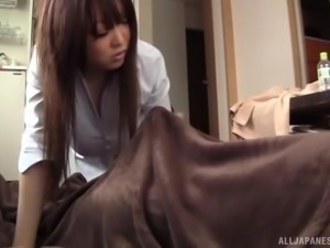 Kisaki Mikoto is curious about sucking on a man's boner