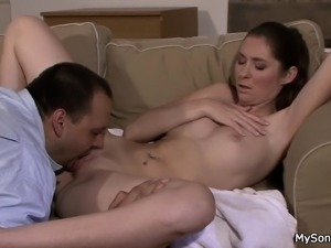 Guy finds his cheating gf riding father-in-law cock