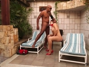 Incredibly slutty ladyboy Yume Farias gives unforgettable blowjob to strong stud