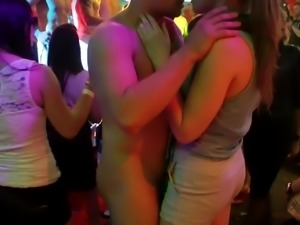 Group sex session with babes who loves to suck on cocks