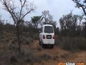 Round ass ebony slaves are riding hard