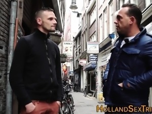 Dutch whore rides n tugs