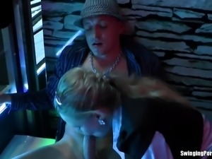 Reality video of a wild orgy where people fuck in a club