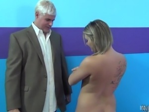 Lovely cutie has big tits got fucked hard on casting