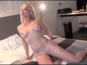 Voyeur blowjob and bedroom masturbation of blonde upskirts babe Axa Jay in...