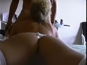 Voracious and restless blonde milf on the bed loves sucking dick deep
