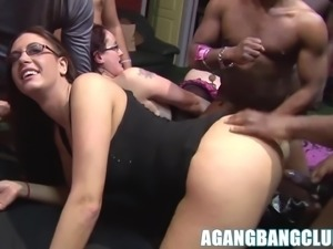 Big boobs Emma Butt and Anna nailed in lovely gangbang.