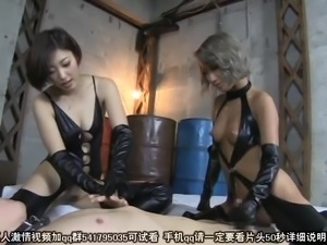 BDSM session with a couple of stunning Asian mistresses