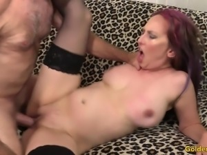 Horny MILF Zoe Matthews Masturbates Before Taking a Stiff Cock