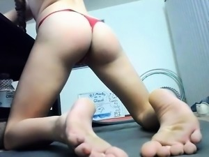 Fetching panties and pussy masturbation