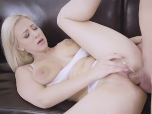 Dude is totally into eating wet cunt of charming blondie Nathaly Cherie