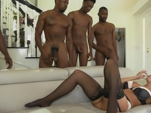 She is a horny blonde beauty who needs to have big black cocks shoved into...