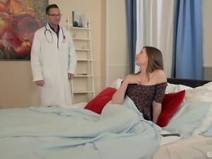 Cute brunette Liona Shy needs a doctor to check up her holes
