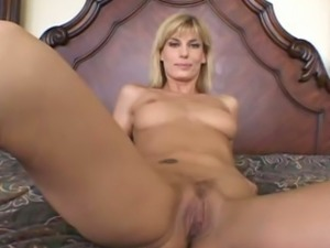 Gorgeous and elegant blonde milf filmed naked and closeup