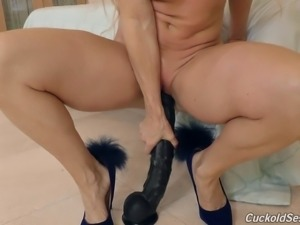 Nice ass Nikki taking black cock hardcore deeply