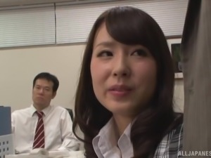 Dick craving secretary Imai Mayumi pounded hard by a hunk