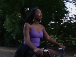Black princess Destiny Dymes spreads her legs for a fuck