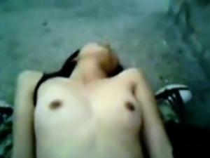 Jummie asian girl fucked on her back with nice body
