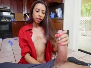 Latina goddess Victoria wants to take care of my hard cock. She sucks so...