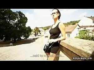 Cutie amateur european slut seduces tourist dor a street blowjob 13