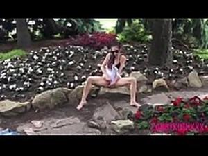 CandyKushXxX HD Risky Public Park Masturbating Exhibitionism