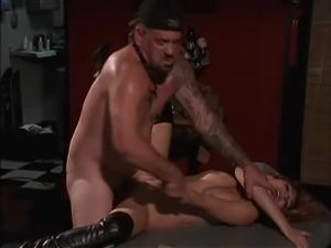 Fucking her hot face brutally makes him feel so good