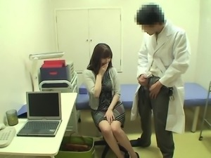 Doctor makes a hot girl that comes to him become very horny and fuckable