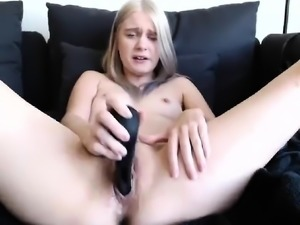 Solo Amateur Blonde Teen Homemade Pussy Masturbation