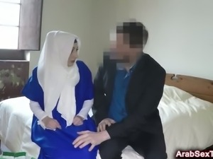 Arab cutie loves riding long cock