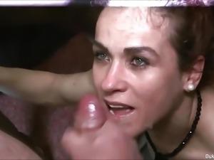 Two Hottie Babes Bukkake Slut
