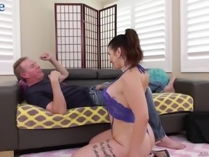 Strong big cock penetrates both hungry holes of slutty Ivy Lebelle