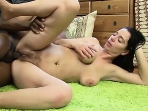Big black cock for hot milf teachers hairy pussy