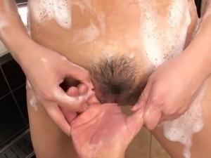 milf washes her man
