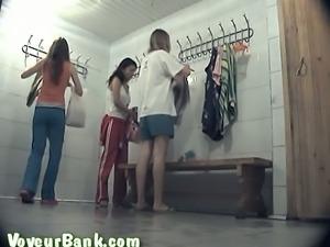 Some lovely all fresh white teen chicks naked in the locker