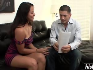 Asian cutie gets a nice hard dick