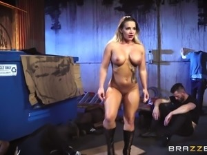 Nasty babe Cali Carter enjoys being covered in a bunch of cum