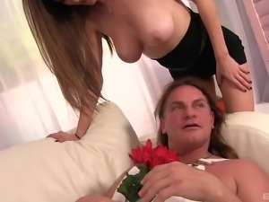 Dillion Carter's skinny body is all a man wants to penetrate