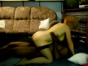 Pallid bosomy and huge bottomed blonde nympho rides black cock
