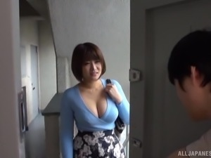 Hakii Haruka is a sexy brunette who wants to ride a big boner