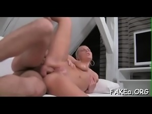 Loud orgasms by a sexy fake agent