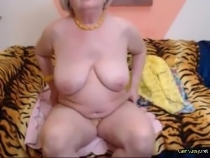 Granny stripping in front of the webcam, very hot and sexy