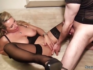 German Amateur MILF Seduce to Fuck Anal by Stranger